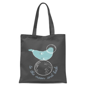 To The Moon And Back Tote Bag - Grey