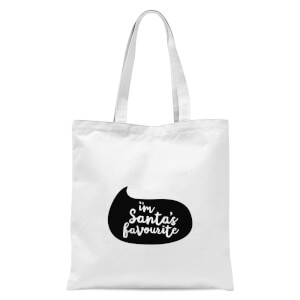 Christmas Santas Favourite Speech Bubble Tote Bag - White