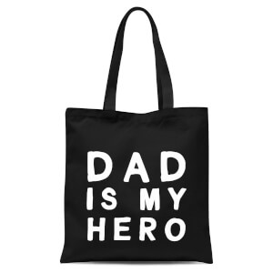 Dad Is My Hero Tote Bag - Black