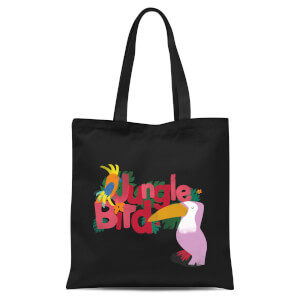 Jungle Bird Tote Bag - Black
