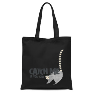 Catch Me If You Can Tote Bag - Black