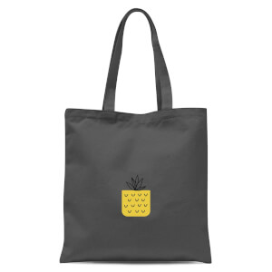 Pineapple Pocket Tote Bag - Grey