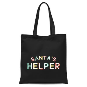 Santa's Helper Tote Bag - Black