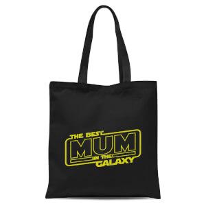 Best Mum In The Galaxy Tote Bag - Black