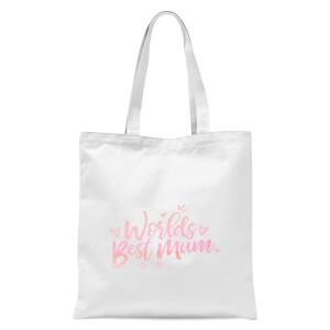 Worlds Best Mum Tote Bag - White