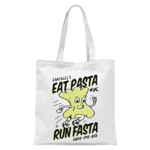 EAT PASTA RUN FASTA Tote Bag - White