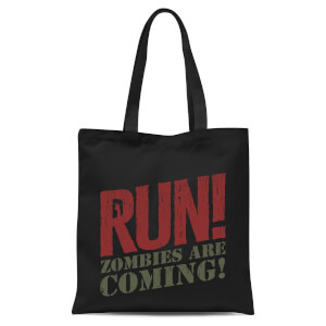 RUN! Zombies Are Coming! Tote Bag - Black