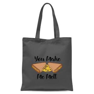 You Make Me Melt Tote Bag - Grey