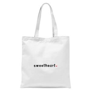 Sweetheart Tote Bag - White