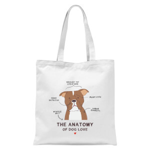 The Anatomy Of Dog Love Tote Bag - White