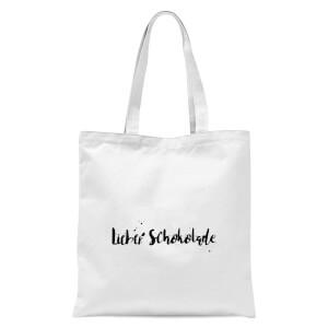 Lieber Schokolade Tote Bag - White
