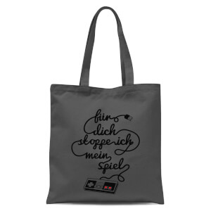 I'd Pause My Game For You (DE) Tote Bag - Grey