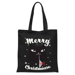 Merry Christmouse Tote Bag - Black