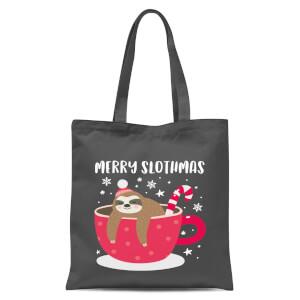 Merry Slothmas Tote Bag - Grey