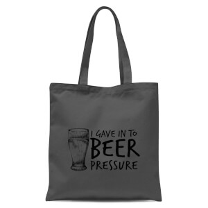 Beer Pressure Tote Bag - Grey