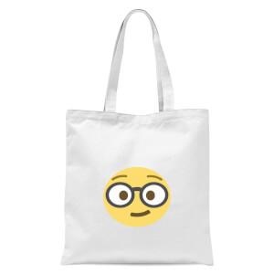 Nerd Face Tote Bag - White