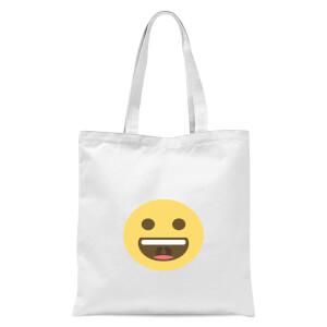 Big Smile Face Tote Bag - White