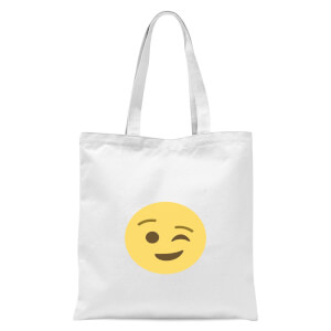 Winky Face Tote Bag - White