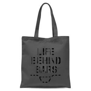Life Behind Bars Tote Bag - Grey