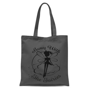 Away With The Fairies Tote Bag - Grey