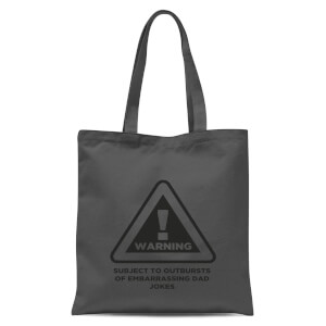 Warning Dad Jokes Tote Bag - Grey