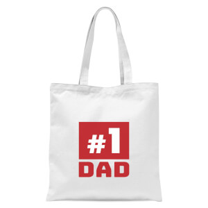 Number 1 Dad Tote Bag - White