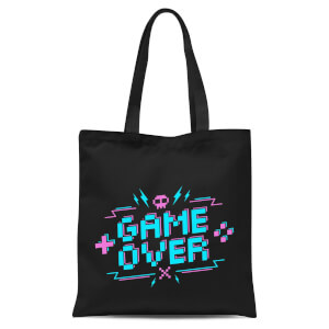 Game Over Gaming Tote Bag - Black