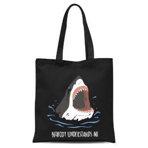 Sharks Nobody Understands Me Tote Bag - Black