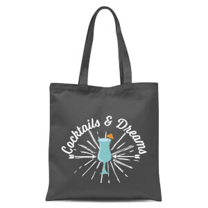 Cocktails And Dreams Tote Bag - Grey