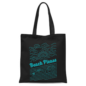 Beach Please Tote Bag - Black