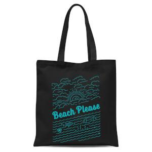 Beach Please Tote Bag - Black
