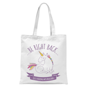 Just Feeding My Unicorn Tote Bag - White