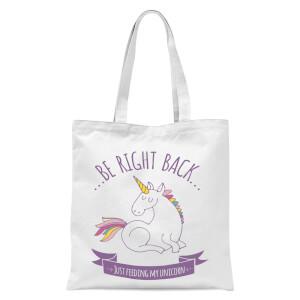 Just Feeding My Unicorn Tote Bag - White