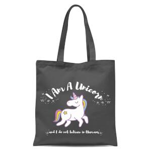 I Am A Unicorn Tote Bag - Grey