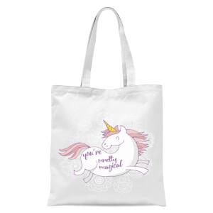 You Are Pretty Magical Unicorn Tote Bag - White