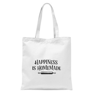 Happiness Is Homemade Tote Bag - White