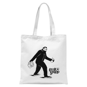 Bigfoot Tote Bag - White