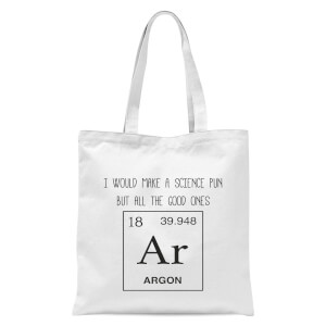 Periodic Pun Tote Bag - White