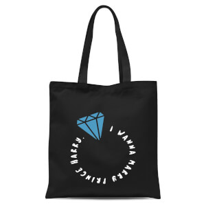 I Wanna Marry Prince Harry Tote Bag - Black