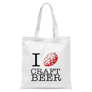 I Hop Craft Beer Tote Bag - White