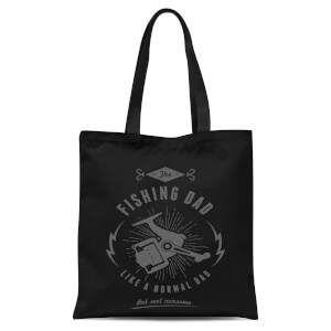 Fishing Dad Tote Bag - Black