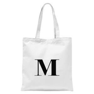 M Tote Bag - White