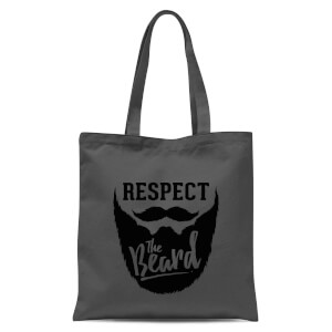 Respect The Beard Tote Bag - Grey