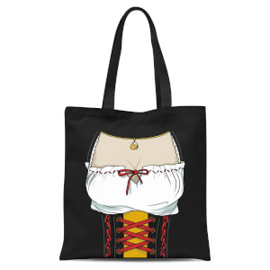 Oktoberfest Ladies Chest Tote Bag - Black
