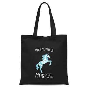 Unicorn Skeleton Tote Bag - Black