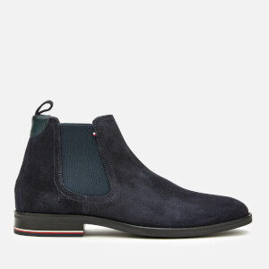 Tommy Hilfiger Men's Signature Hilfiger Suede Chelsea Boots - Midnight