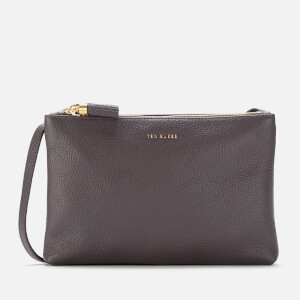 Ted Baker Women's Maceyy Tassel Double Zipped Cross Body Bag - Charcoal