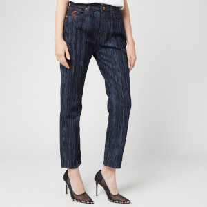 Vivienne Westwood Anglomania Women's New Harris Jeans - Wood Print