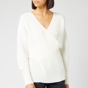 Victoria, Victoria Beckham Women's Drape Front Sweater - Ivory