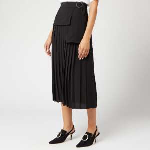 Victoria, Victoria Beckham Women's Side Tie Pleat Skirt - Black